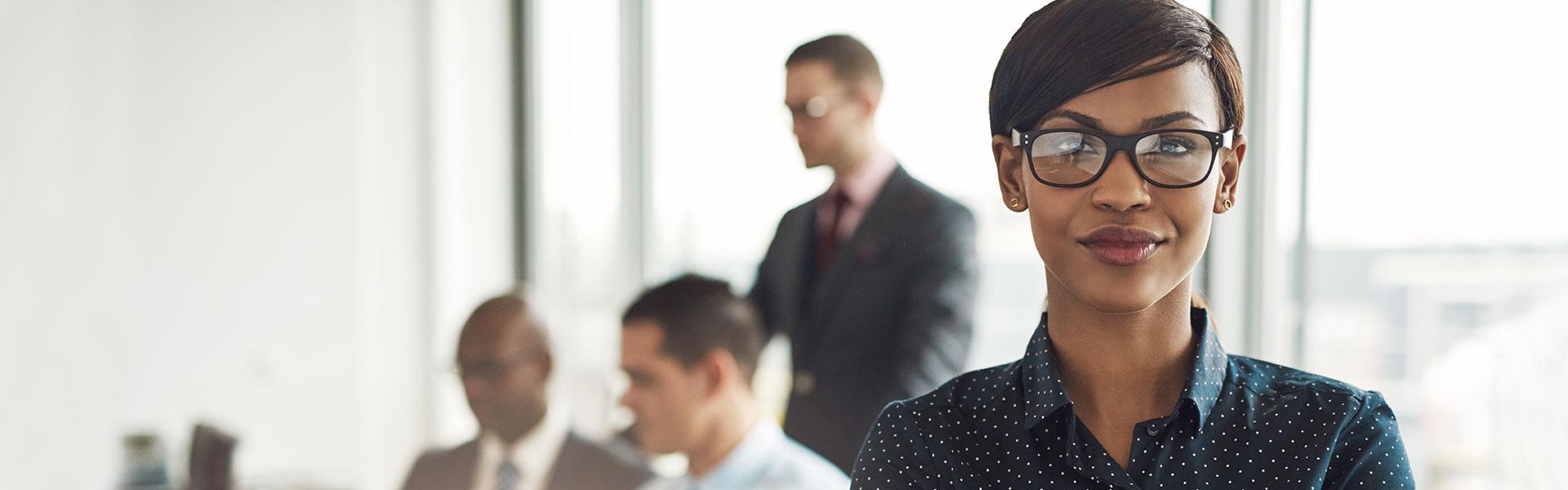 Female employee in an office
